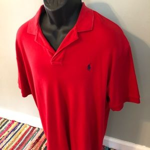 Polo by Ralph Lauren Shirts - Ralph Lauren Polo Shirt Red Rugby Logo Large